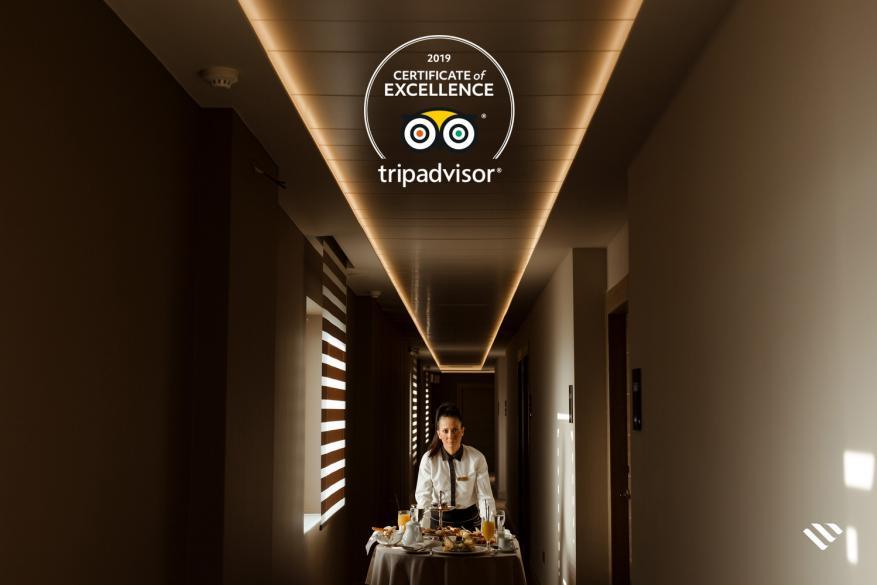 Το ξενοδοχείο Grand Hotel Palace βραβεύτηκε για άλλη μια χρονιά με το πιστοποιητικό διάκρισης του Tripadvisor 2019
